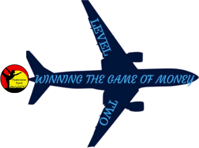 Airplane With Winning The Game Of Money Written On It