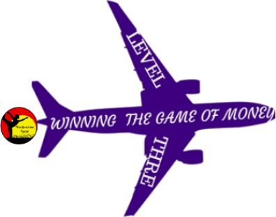 Purple Airplane With The Words Winning The Game Of Money On It