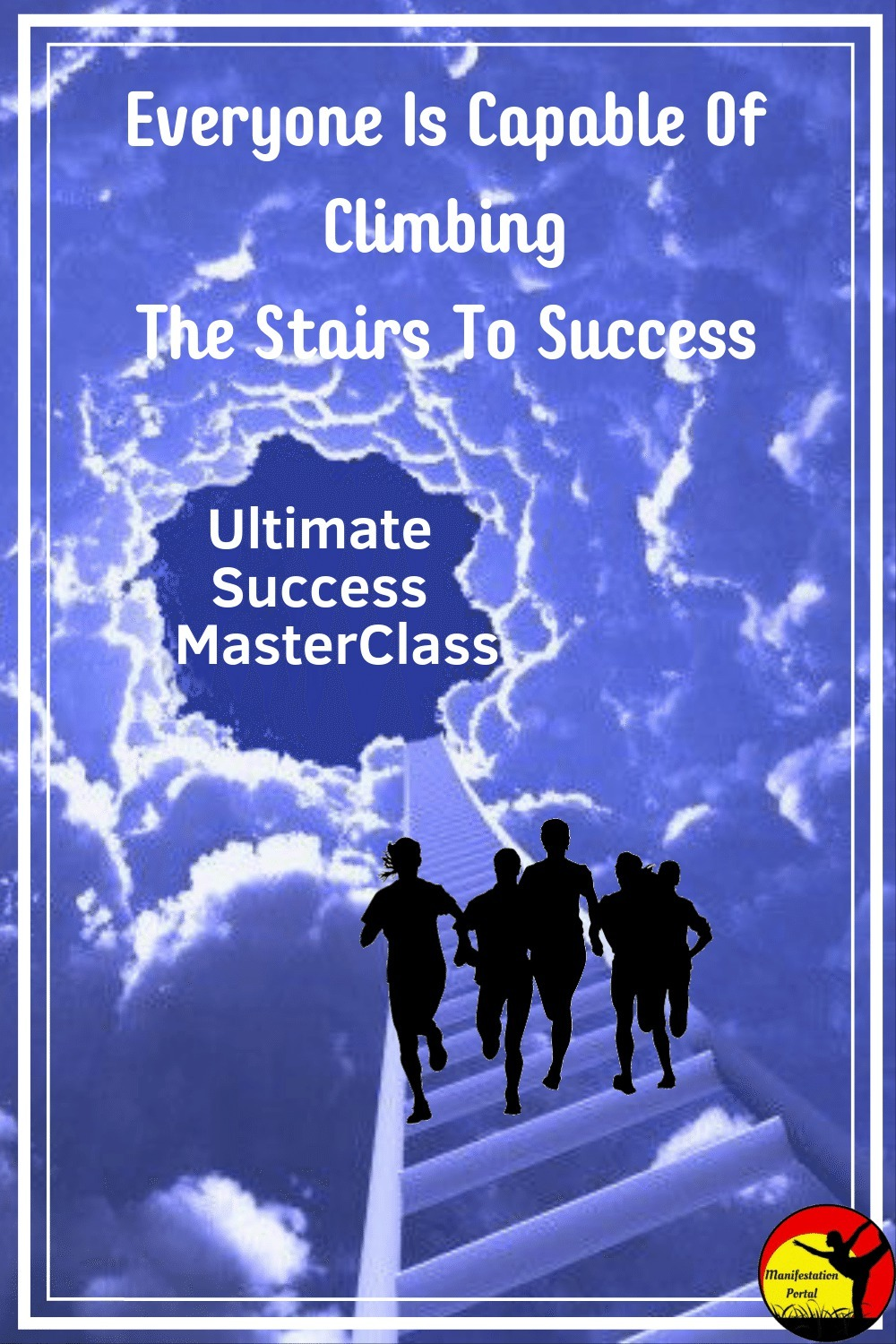 People Climbing Stairs To Success