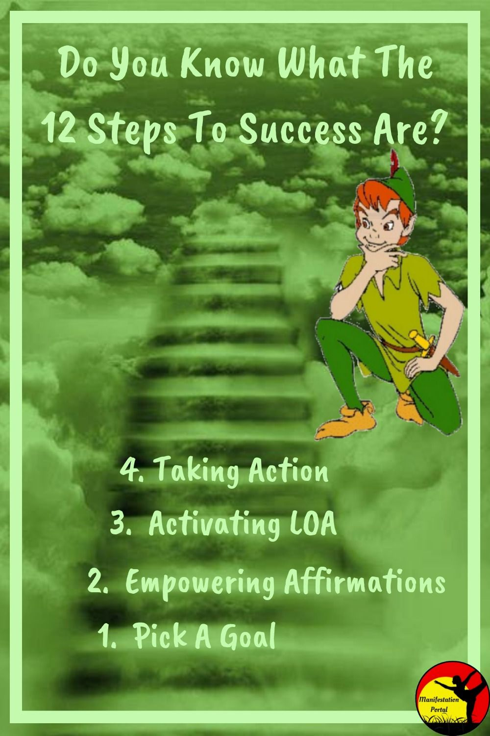 Peter Pan by the steps for success